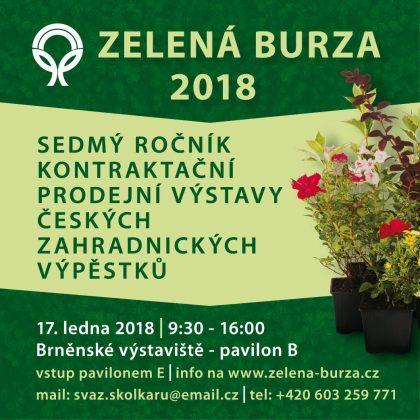 Zelená burza 2018 – ohlednutí za letošním ročníkem výstavy / fotogalerie / Banner ZELENA BURZA 2018 1042x1042_300dpi